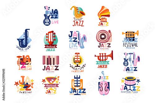 Wallpaper Mural Logos set for jazz festival or live concert