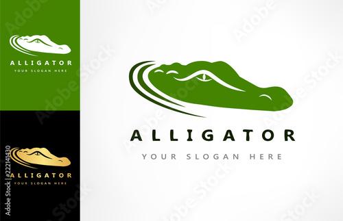 Fototapeta premium Wektor logo krokodyla. Ilustracja aligatora.