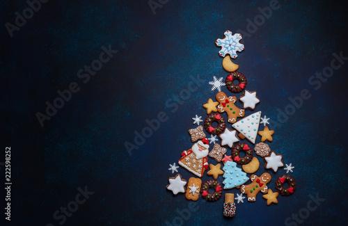Assorted Christmas cookies.