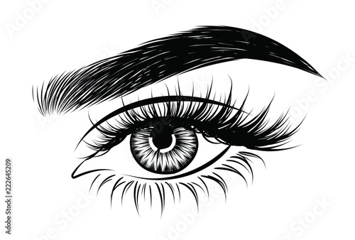 Fotografia Abstract fashion illustration of the eye with creative makeup