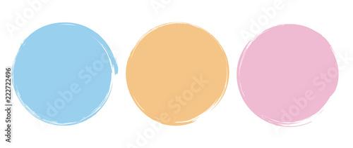Fotografija Brush Circle Logo Template Vector