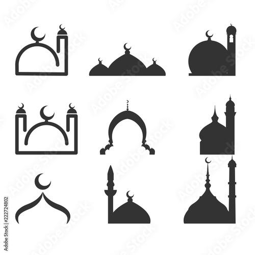 Fototapeta mosque logo set