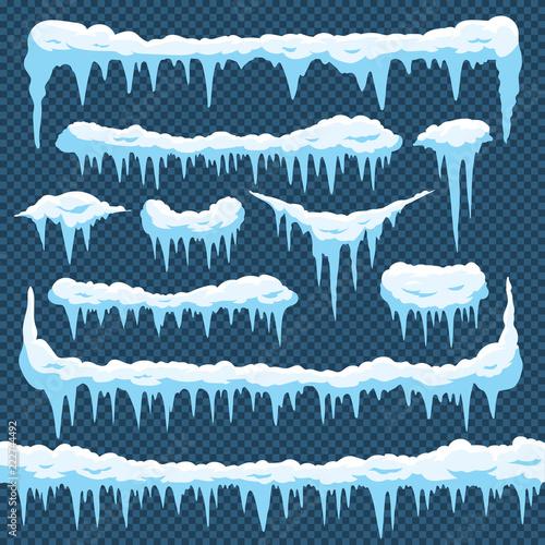 Fotografie, Obraz Cartoon snow icicles