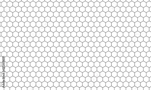Fotografiet Hexagon net pattern vector background