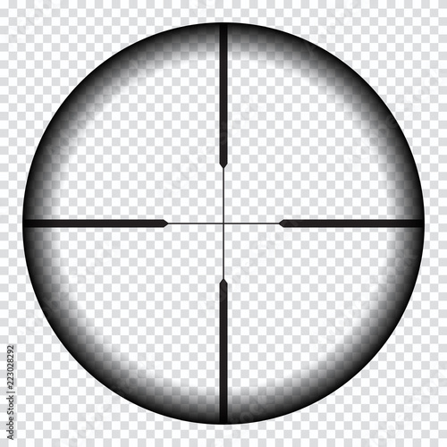 Obraz na plátně Realistic sniper sight with measurement marks