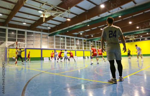 balonmano partido jugador extremo U84A3215-f18