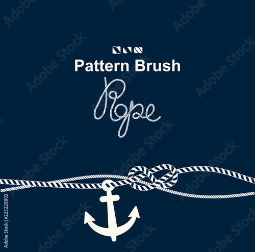 Fototapeta vector brush old sea rope
