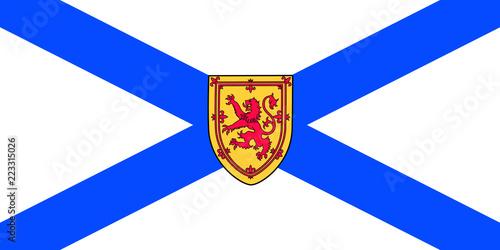 Vector flag of Nova Scotia province Canada. Halifax, Cape Breton Fototapeta