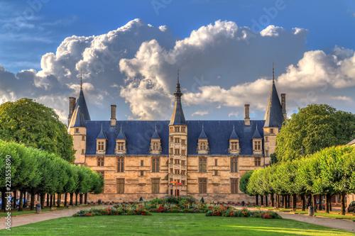Obraz na płótnie The 15th century historical monument Ducal Palace of Nevers (Palais ducal de Nev