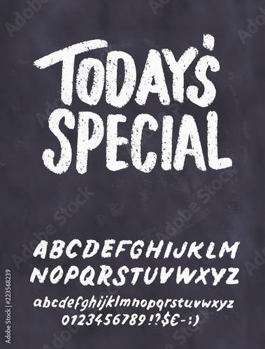 Obraz na plátně Today's special menu. Chalkboard menu template.