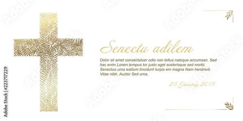 Foto Funeral card template