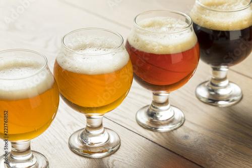 Fototapeta Refreshing Cold Beer Flight