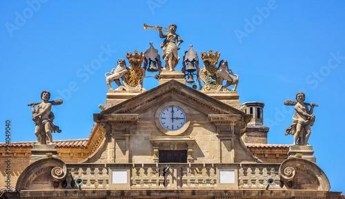 Obraz na płótnie The town hall in spanish city, Pamplona, Navarra, Spain
