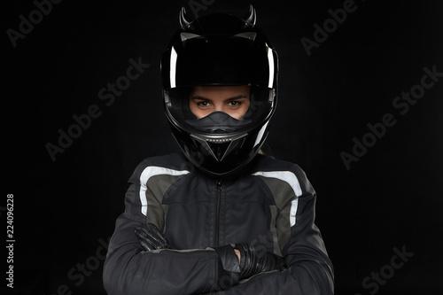 Obraz na plátně Motorcycle sports, extreme, competition and adrenaline