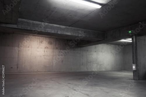 Valokuvatapetti Abstract empty garage interior, background