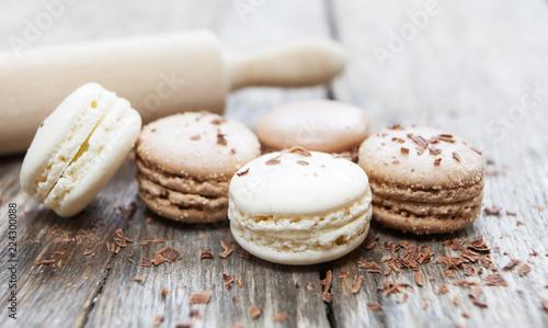 Fotografie, Obraz fabrication de macarons