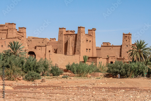 Aït Benhaddou, an ancient village in the Sahara Desert where all the houses and buildings are made from sand