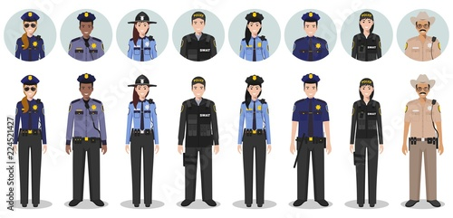 Wallpaper Mural Police people concept