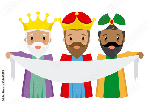 Fotografiet the three kings of orient with poster with space for text