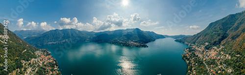 Canvas Print Italy Como Lake drone Air 360 vr virtual reality drone panorama