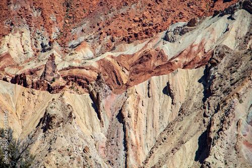 Slika na platnu Detail of the scrambled geology inside Upheaval Dome in Canyonland National Park