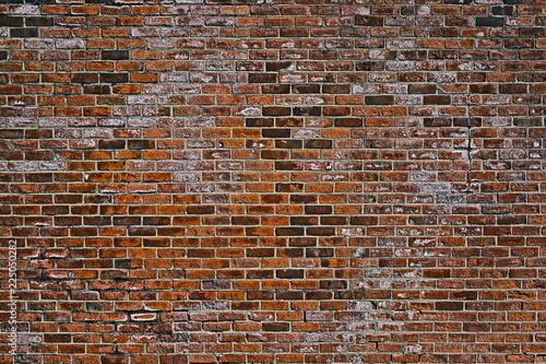 the old red brick wall Fototapeta