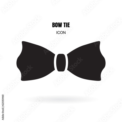 Vászonkép Bow tie or neck tie simple vector icon isolated on white