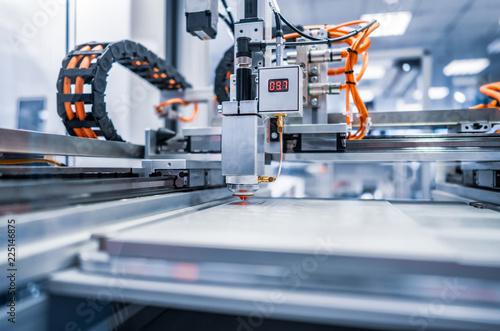 Stampa su Tela CNC Laser cutting of metal, modern industrial technology.