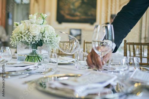 Fotografie, Tablou Luxury catering service in a classical elegant location