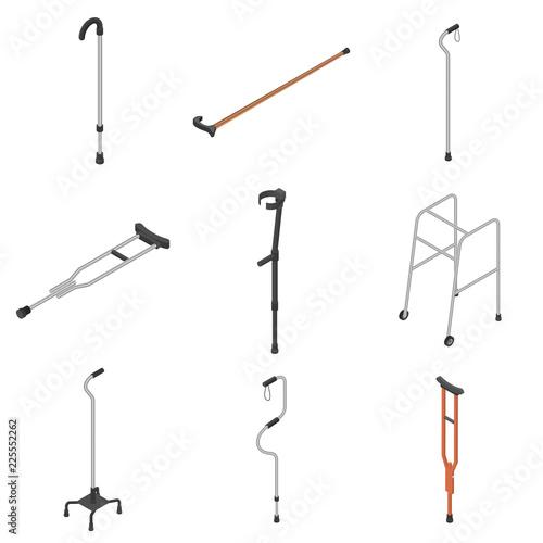 Fotografia Crutches icon set