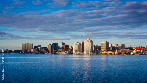 Fotografie, Obraz View of downtown Halifax with the waterfront and the Purdy's Wharf