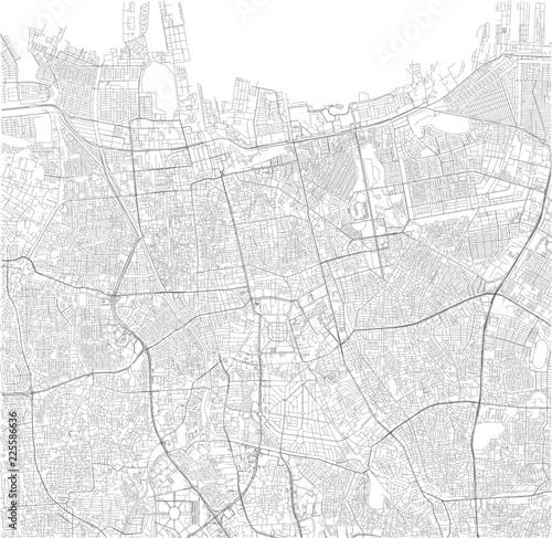 Fotografie, Obraz Cartina satellitare di Jakarta, Indonesia, strade e vie della città
