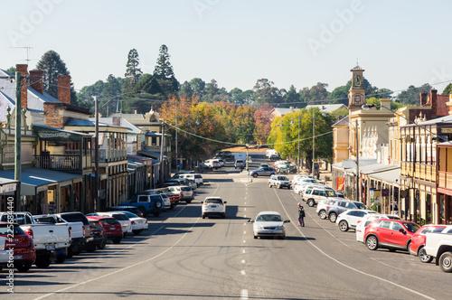 View along historic Ford Street in the goldrush town of Beechworth Fototapeta