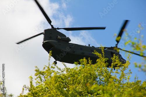 A low flying Royal Air Force Chinook Fototapeta