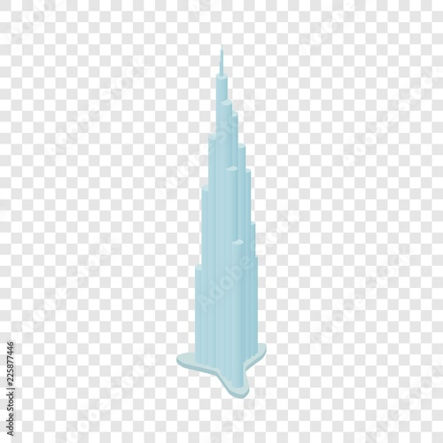 Foto Burj Khalifa isometric icon 3d on a transparent background vector illustration