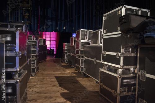 Billede på lærred Preparing the stage for a concert
