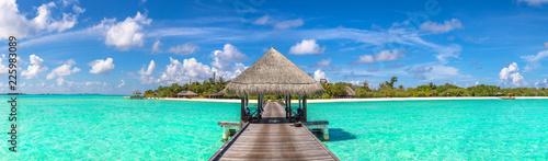 Fotografia, Obraz Water Villas (Bungalows) in the Maldives