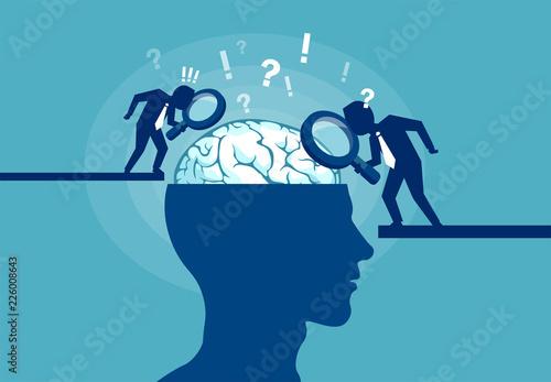 Concept of scientist exploring human brain Fototapeta