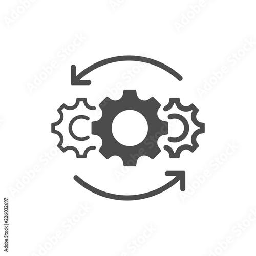 Operations line icon isolated on white background Fototapeta