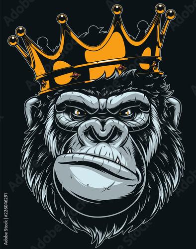 Fotografia Ferocious gorilla head