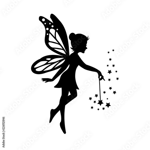 Canvas Print Beautiful Fairy Silhouette