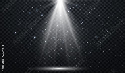 Canvas Print White spotlights