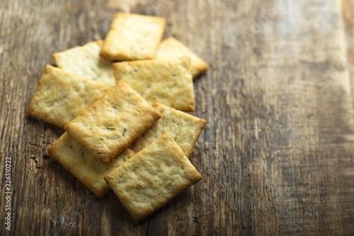 Vászonkép Homemade olive oil crackers