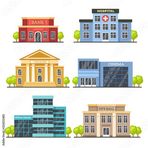 Fotografia Flat city buildings