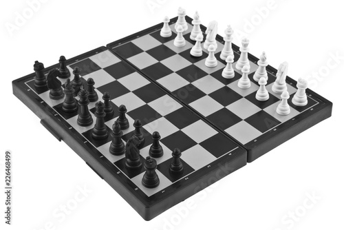 Wallpaper Mural chess isolated on white background