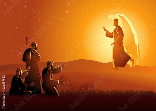 Fotografie, Obraz Annunciation to the shepherds