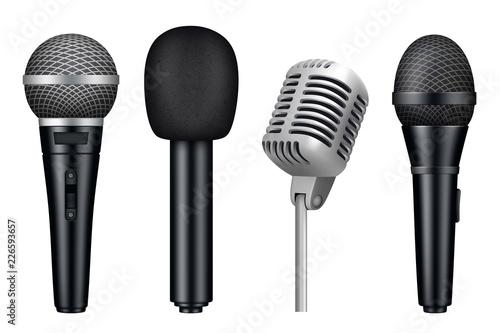 Obraz na płótnie Microphones 3d