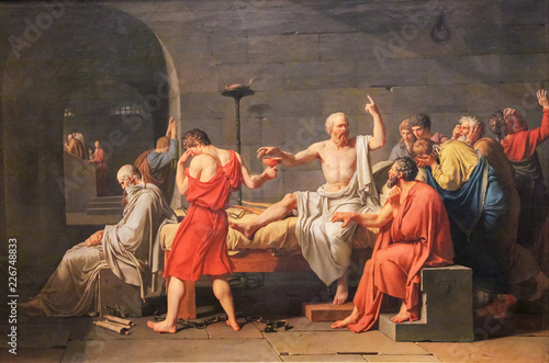 Leinwand Poster The Death of Socrates
