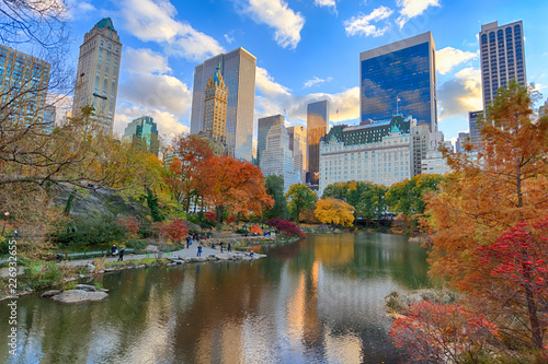 Canvas NYC Central Park and Midtown at autumn