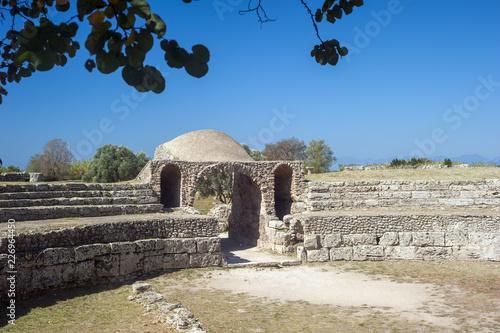 Paestum, Archaeological site, Salerno. Fototapeta